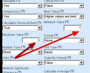Max and Min Values. Will a max a min help to minimise data entry errors? For height in metres you can set a min of 1 and a max of 3. This will minimise user error