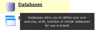 To create or view a Database from the Application Builder click on Databases