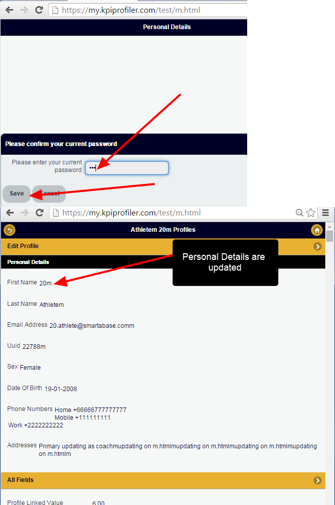 Confirm change with Password Prompt and the changes will be saved