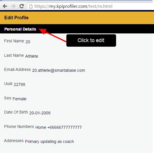 Edit Account Details via the Profile Pages