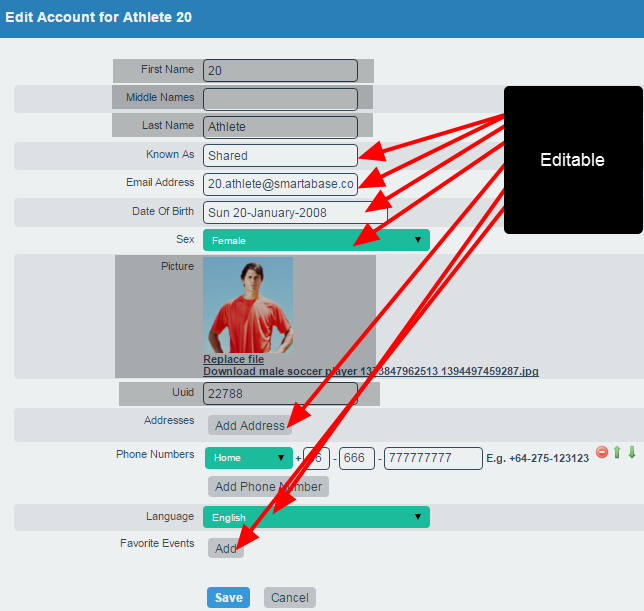 Because most athletes and some coaches may not need full access to edit all account fields via the Profile pages, an additional system permission with a smaller set of permission is now available as a system permission called Edit Account Details-Partial