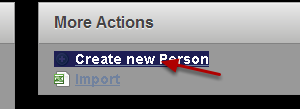 "Select ""Create new Person"""