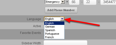 Internationalisation... what language will appear on login