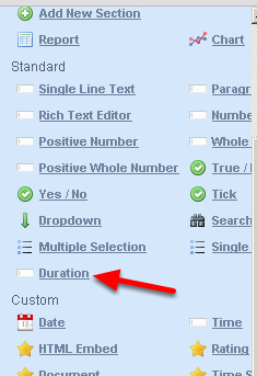 A Duration Field is now available on the Form Builder to add into an Event Form