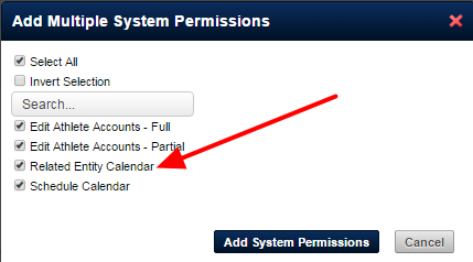 On the Admin tool there is a New system permission called Related Entity Calendar