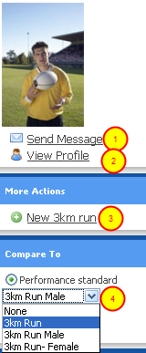Quick Guide Tips on the Athlete History Page: Add a new Event, E-mail the Athlete or choose a different comparison to compare their history to