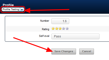To Edit an existing Profile select the Profile Form you need to update and then save the changes