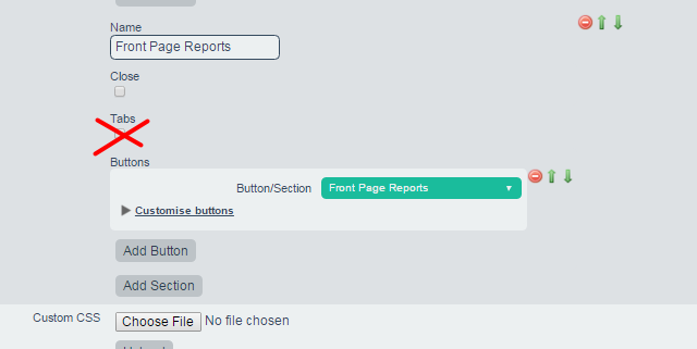 Set up the Front Page Reports in a standalone Section