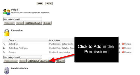 Open the Role that you want to add the new permissions to