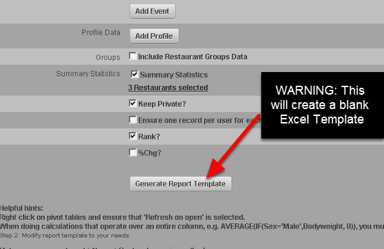 "You can generate a new BLANK template by clicking ""Generate Report Template"". This will generate a BLANK template for you. Alternatively, you can select ""Test Report"" to have an export of the original template with the new settings (most users will need this- see the step below)"