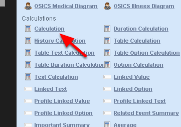 To round a number down to the nearest whole number, again choose a calculation field