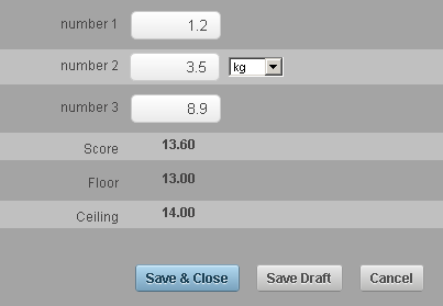 The image here shows how the number is rounded up, or rounded down depending on the floor and ceiling functions in the calculation fields