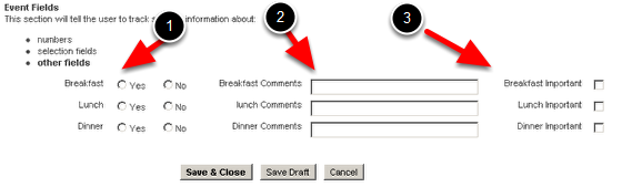 Column Layout: An example of how the fields change when a 3 column layout is applied. It  transforms the data from vertical arrangement to 3 horizontal columns