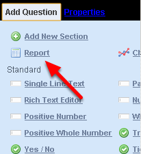 "You add in an Inform Report into an Event Form by clicking on the ""Report"" icon in the Form Builder"