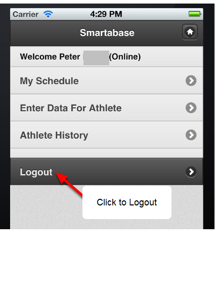 "When you have finished using the software, you MUST click on the ""Logout"" button. DO NOT JUST CLOSE THE SOFTWARE."