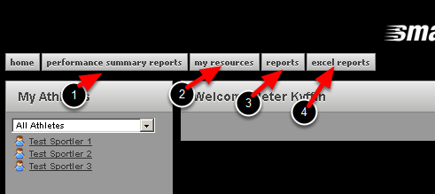 This is how the Tabs set up in the step above display on the application. They are displayed with the Modules at the top of the Tabs list on the left of the page and the Modules at the bottom of the list on the right