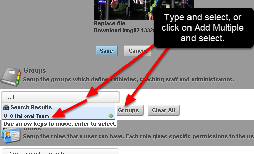 To apply a Page Layout to a Group add in a Group/s in the Groups Section. You can add a single group at a time or select to add multiple and choose the Groups.