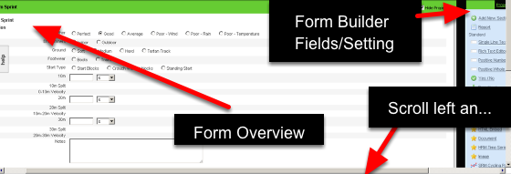 Previously, the Form Questions and Properties were on the RIGHT of the page and the Form Overview appeared on the Left