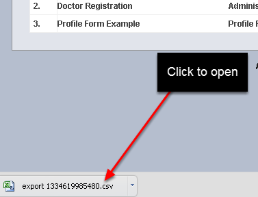 A .csv file download will appear in your downloads directory.