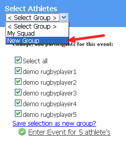 The New Personal Group is now available in the Group Entry Selection (shown here)