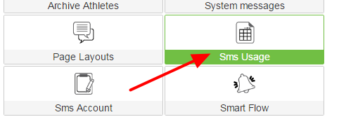 On the Builder Site click on the Module called SMS Usage