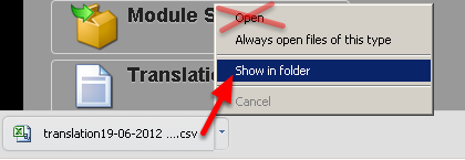 Once the CSV has downloaded, do NOT open it with Excel.  YOU can ONLY open the file with LibreOffice Calc software. Choose to show in the download list (or show in folder)