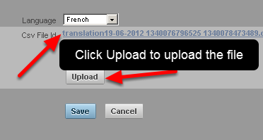 Click Upload and Save the file