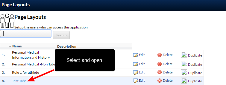 Select the Page Layout which the Dashboard/s are required to display in.