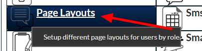 In the Admin site, now open the Custom Page Layout that you require the Dashboard to appear in.