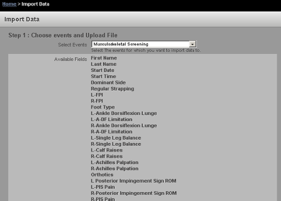 Importing data into the system into Event Forms with over 300 fields in the Event Form failed. This has been resolved