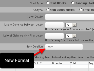 There is a new duration field mm that can be set up by your site Builder to use in your Event Forms if you require