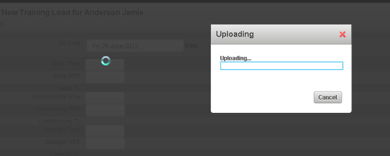 Click Upload (shown in the image in the step above) and the file will upload into the Event Form