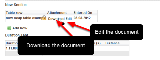 Any documents uploaded into a table row that locks can still be downloaded from the table row.