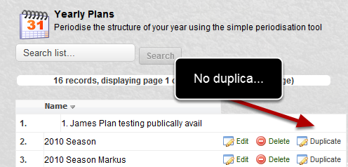 "The ""Duplicate"" button on the Publically Available Yearly Plans was not appearing"