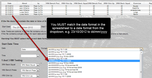When you import in new data you must carefully match the date format to the format of your csv spreadsheet.