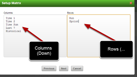 Add in all of the rows and columns