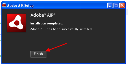 "8.3 A pop up window will tell you when it has installed correctly. Click ""Finish"""