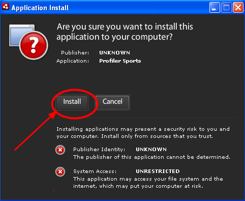 "3.2 In the Application Install window, click ""Install"""
