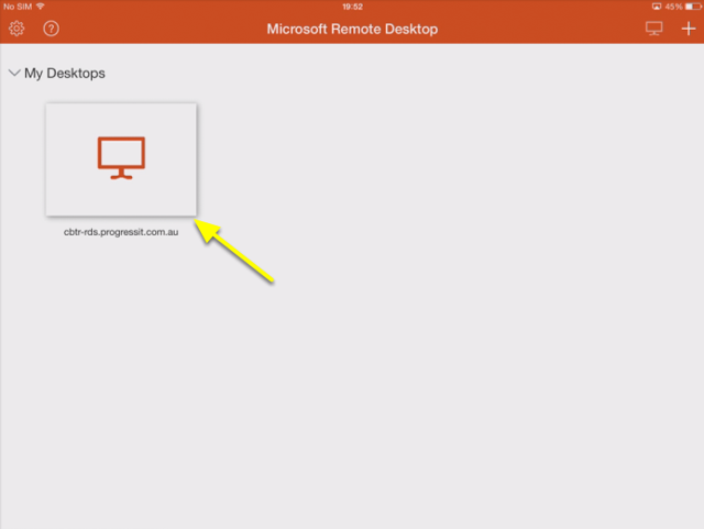 Connect Remote Desktop for the first time