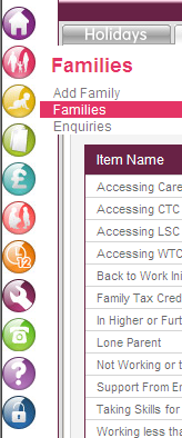 To tick these on the carers accounts