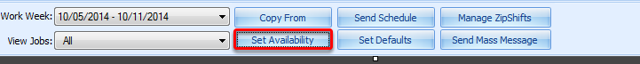 Setting Availability