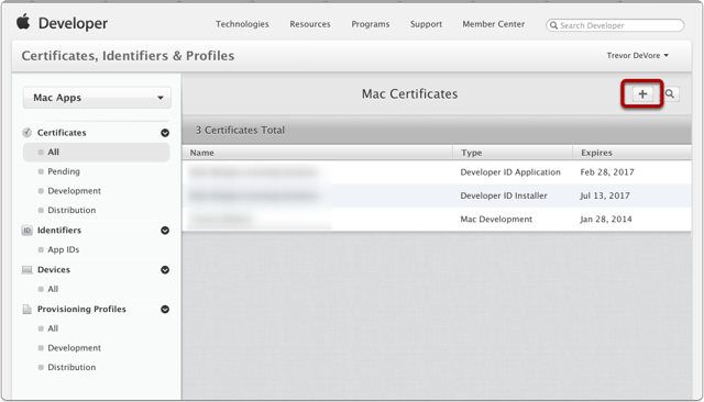 Request a Developer Certificate