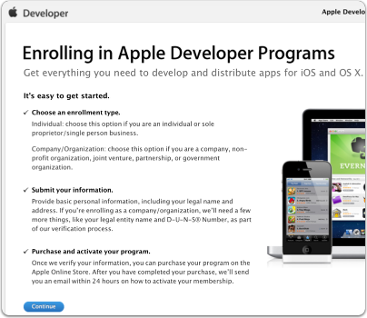 Enroll in the Apple Developer Program