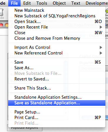 Save as Standalone Application