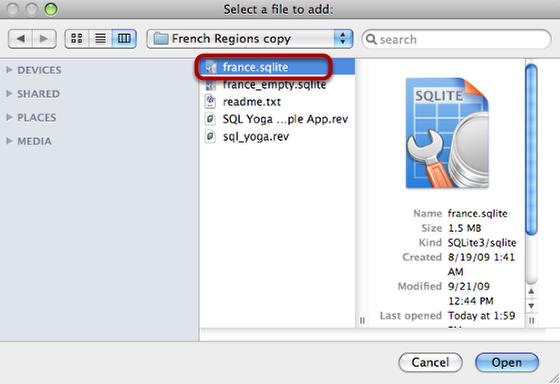 Select Database File