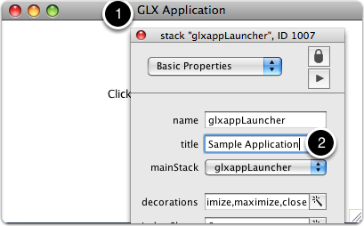 Update glxappLauncher Stack Title