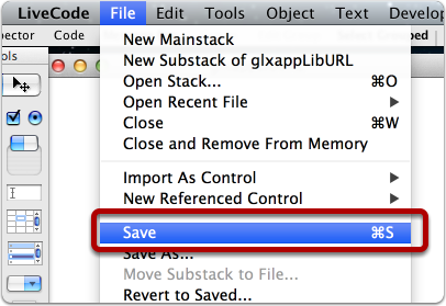 """Save """"application"""" stack"""