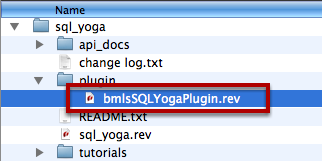 Locate the SQL Yoga Plugin Stack