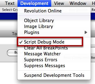 When Script Debug Mode Is On