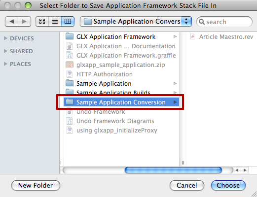 Select Folder To Build Application In